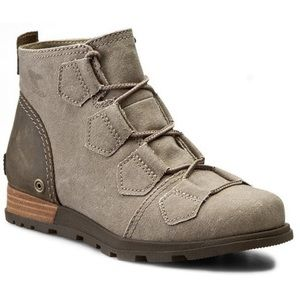 Sorel Major Lace Boot taupe canvas 6.5